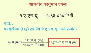 Read more about the article आणवीय वस्तुमान एकक (Atomic Mass Unit)