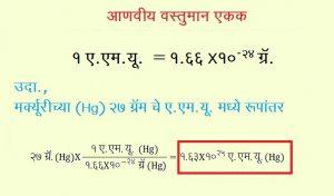 आणवीय वस्तुमान एकक (Atomic Mass Unit)