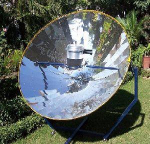 अन्वस्तीय सौरचूल (Parabolic Solar Cooker)