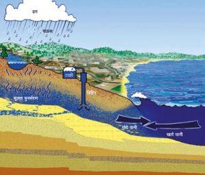अध:पृष्ठीय जल (Sub-surface water)