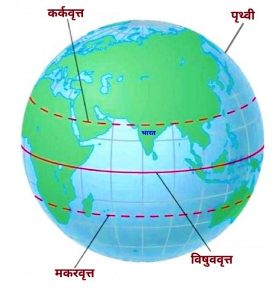 Read more about the article कर्कवृत्त (Tropic of Cancer)