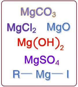 मॅग्नेशियम : संयुगे (Magnesium compounds)