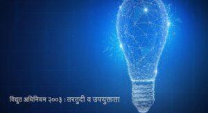 विद्युत अधिनियम २००३ : तरतुदी व उपयुक्तता (The Electricity Act 2003)