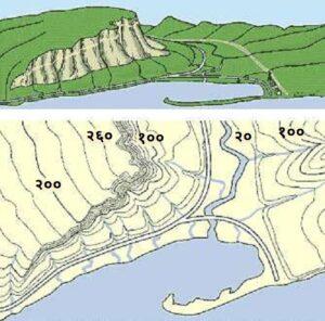 समोच्च रेषा (Contour Line)