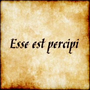 एसे एस्ट पर्सिपी (Esse est percipi)