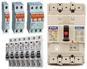 लघु विद्युत मंडल खंडक (Molded Circuit Breaker, MCB) आणि साचेबद्ध आवरणयुक्त विद्युत मंडल खंडक (Molded Case Circuit Breaker, MCCB)