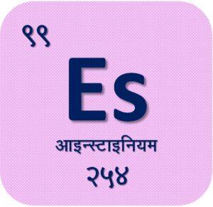 आइन्स्टाइनियम (Einsteinium)